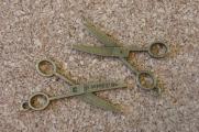 Ciseaux ouverts bronze, 39x20mm, sans l'anneau, Emballage de 3 pour 2.50$