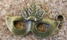Masque bronze, 15x15mm